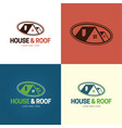 house and rologo and icon vector image vector image