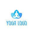 icon yoga vector image vector image