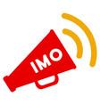 imo megaphone alert flat icon vector image