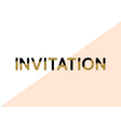 Invitation Design vector image vector image