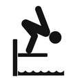 jump in pool icon simple style vector image
