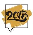 Lettering 2017 banner vector image vector image