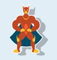 man superhero superhero standing icon in vector image