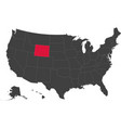 map of usa - wyoming vector image
