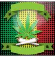 marijuana-cannabis-joint vector image vector image