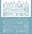 medications and pills icon set medicine hospital vector image