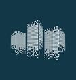 modern city skyline logo vector image vector image