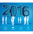 Modern infographic new year project vector image vector image