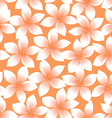 Orange tropical Plumeria and Hibiscus floral vector image vector image