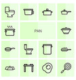pan icons vector image vector image