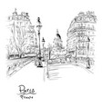 paris in the winter morning france vector image