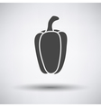 Pepper icon on gray background vector image vector image