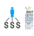 Person Expenses Icon With 2017 Year Bonus vector image vector image