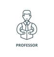 professor line icon linear concept vector image vector image