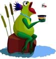 queen frog vector image
