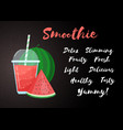 red natural watermelon smoothie fruit shake vector image vector image