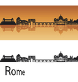 Rome skyline in orange background vector | Price: 1 Credit (USD $1)