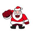 santa claus hat and beard vector image vector image