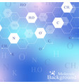 scientific hexagonal chemistry pattern structure vector image vector image