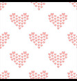 seamless mosaic heart pattern hand drawn design vector image