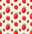 Seamless Pattern of Ripe Strawberry vector image vector image