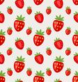 seamless pattern ripe strawberry vector image