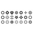 set abstract geometric circular shapes vector image vector image