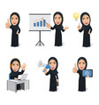 set arabian woman characters vector image vector image