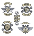 set car emblems badges symbols vector image vector image