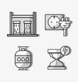 set hydraulic energy with elements icons vector image
