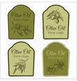 Set of labels for olive oil vector image vector image