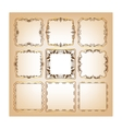 Set of square frames for greeting cards vector image vector image