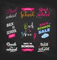 set of welcome back to school labels on a vector image vector image