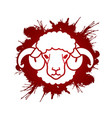 sheep or lamb with big horn cartoon graphic vector image vector image