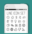 simple modern thin icon collection for smart vector image vector image