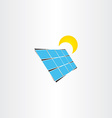 solar panel sun energy icon vector image
