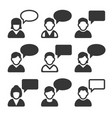 speaking people avatars chat icons set vector image