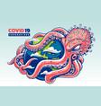 sprut coronavirus art vector image