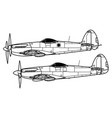 supermarine spiteful and seafang vector image vector image
