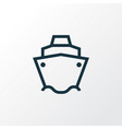 tanker outline symbol premium quality isolated vector image vector image