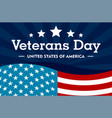 veterans day concept background flat style vector image vector image