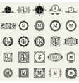 Vintage Monogram Design Templates Icons Symbols vector image vector image