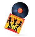 Vinyl record and cover vector image vector image