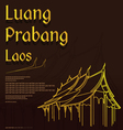 Wat Xieng thong templeLuang Pra bang Laos vector image