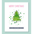 Watercolor Christmas greeting card vector image vector image