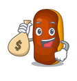 with money bag character eclair cake isolated on vector image vector image