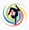 woman yoga action sport woman pose vector image vector image