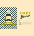 boy baby shower invite greeting card vector image