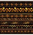 Handmade pattern with ethnic geometric ornament vector image
