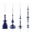 Seismogram waves print vector image